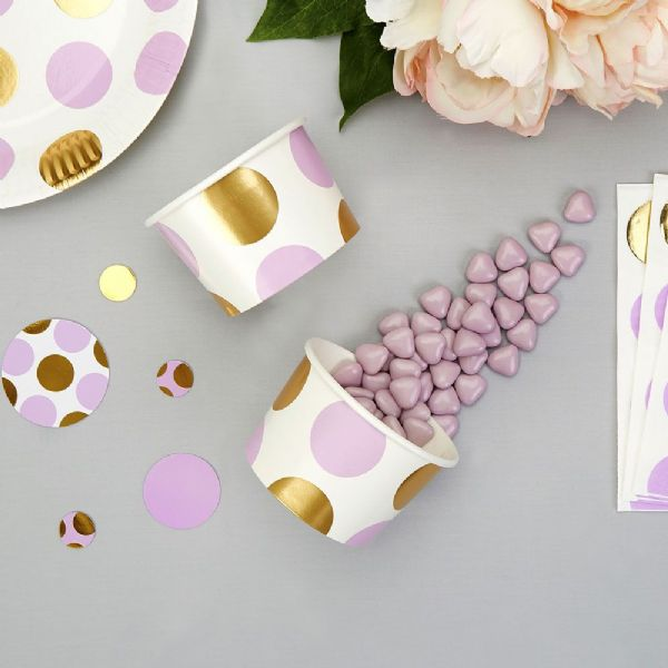 Pattern Works Lilac Dots Treat Tubs (8)
